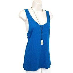 Rag & Bone tank top slub knit blue